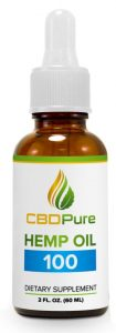 "Organic CBD oil for sale online : CBDPure Hemp Oil 100 has been developed for those looking to give their health and wellbeing a general ""boost"". Each daily serving of CBDPure Hemp Oil 100 delivers 3.3 mg of cannabidiol via a natural and organic hemp oil. - Contains 3.3 mg of cannabidiol per daily serving - Natural and organic hHemp oil - Natural hemp flavor - Backed by a 90 day Money Back Guarantee"